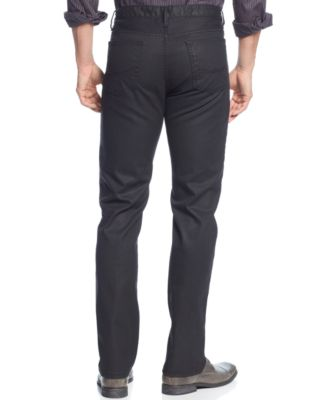 Alfani Deker Straight-Fit Coated Black..