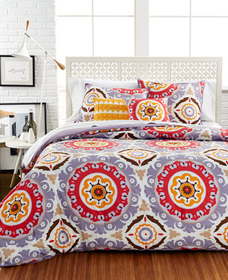 Closeout Raya Medallion 5 Piece Comforter And Duvet Cover