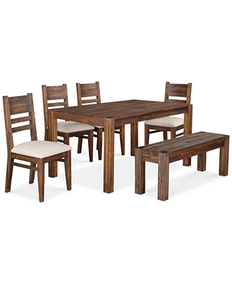 Avondale 6 Pc Dining Room Set Only At Macy 39 S Table Bench 4 Side Chairs Sale