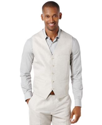 Perry Ellis Mens Big and Tall Linen Bl..