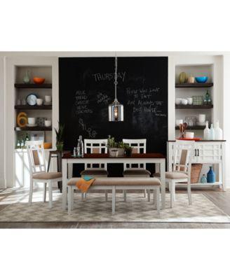 Delran White 6 Piece Dining Room Furniture Set Furniture