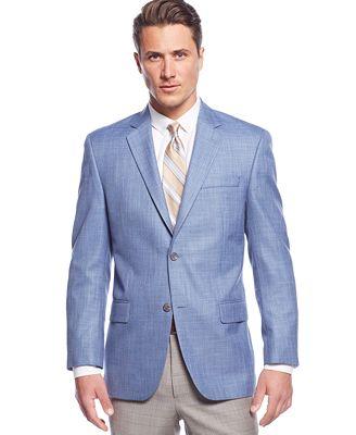 michael michael kors big and tall blue sharkskin sport coat blazers sport coats men macy 39 s. Black Bedroom Furniture Sets. Home Design Ideas