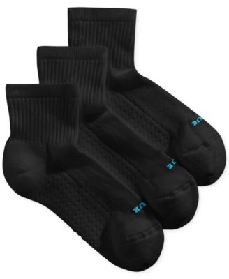 Hue Womens Air Cushion Mini Crew 3 Pack Socks