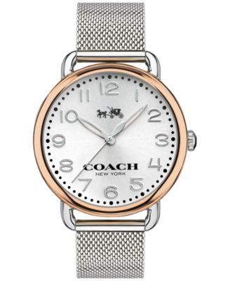 COACH WOMEN'S DELANCEY STAINLESS STEEL MESH BRACELET WATCH 36MM 14502266