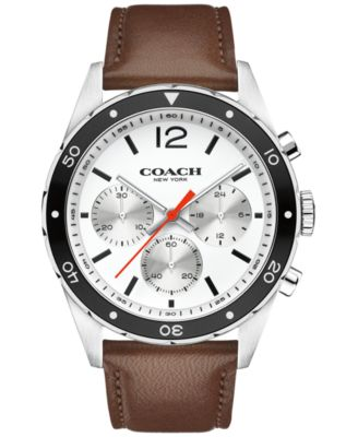 COACH MEN'S CHRONOGRAPH SULLIVAN SPORT BROWN LEATHER STRAP WATCH 44MM 14602057 - ONLY AT MACY'S