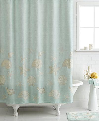 Avanti Bath Sequin Shells 72 X 72 Shower Curtain