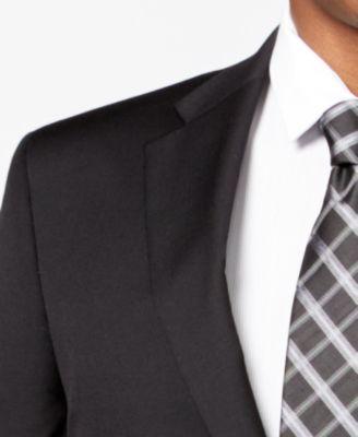 Tommy Hilfiger Black Solid Classic-Fit Suit