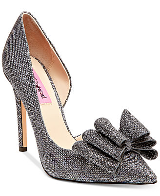 Betsey Johnson Prince Du0026#39;Orsay Evening Pumps - Evening U0026 Bridal - Shoes - Macyu0026#39;s