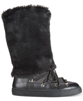 INC International Concepts Soffy Faux Fur Cold Weather Boots