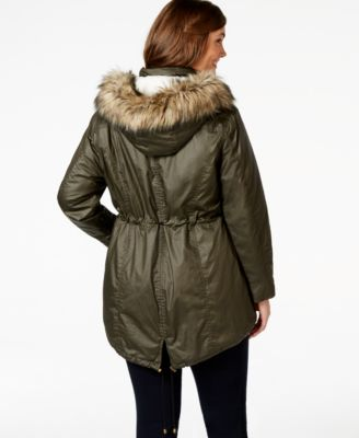 American Rag Plus Size Faux-Fur-Trim Hooded Parka