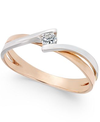 two tone promise ring 1 10 ct t w in 10k gold