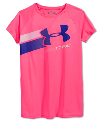 Under armour girls 39 fast lane t shirt shirts tees for Under armour shirts for kids