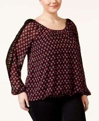 American Rag Trendy Plus Size Crochet-..
