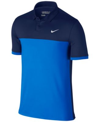 Nike Mens Icon Dri-FIT Color-Blocked Golf Polo