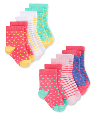 First impressions baby girls 39 6 pack print dot socks for Fingerprint jewelry by first impressions