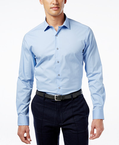 alfani slim fit stretch men 39 s dress shirt only at macy