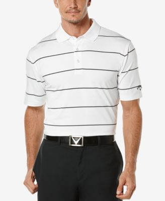 Callaway Mens Striped Performance Golf Polo