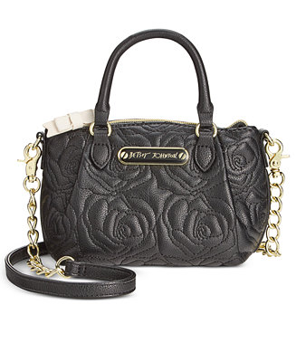 Betsey Johnson Quilted Rose Mini Crossbody Handbags