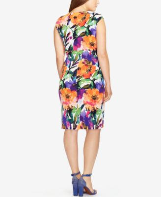 Lauren Ralph Lauren Plus Size Floral-Print Jersey Dress