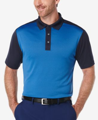 PGA TOUR Mens Colorblocked Golf Polo