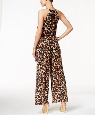 Thalia Sodi Leopard-Print Halter Jumps..