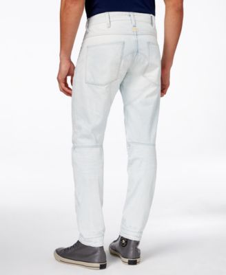 G-Star RAW Mens 5620 Tapered-Fit Light Aged Jeans