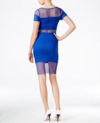 GUESS Lyssa Illusion Bodycon Dress