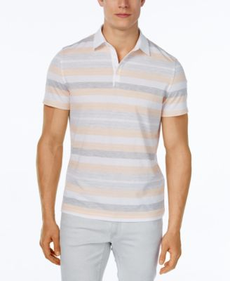 Alfani Mens Keen Stripe Polo Classic Fit