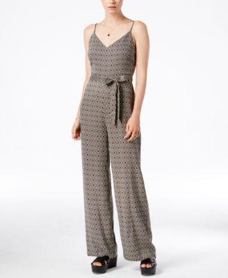 Sanctuary Harper Printed Belted Jumpsuit