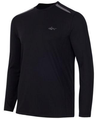 Greg Norman for Tasso Elba Mens Big & Tall Long-Sleeve Mesh-Inset T-Shirt