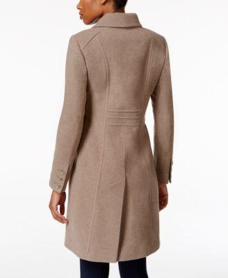 Anne Klein Petite Wool-Cashmere-Blend Walker Coat