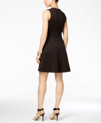 Jessica Simpson Sleeveless Lace-Up Scu..