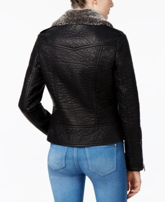 RACHEL Rachel Roy Faux-Fur-Collar Bomber Jacket