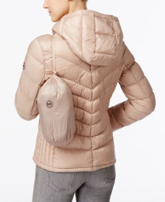 MICHAEL Michael Kors Petite Hooded Packable Down Puffer Coat