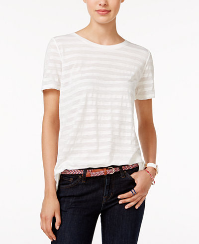 Tommy hilfiger emery striped t shirt only at macy 39 s for Tommy hilfiger fitzgerald striped shirt