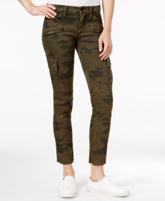 Hudson Jeans Camo-Print Cropped Skinny..