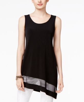 Alfani Illusion Asymmetric-Hem Top