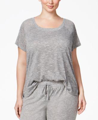Alfani Plus Size Raglan-Sleeve Pajama ..