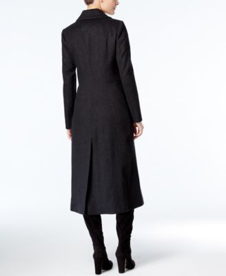 Anne Klein Wool-Cashmere-Blend Maxi Walker Coat