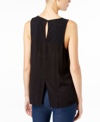 Sanctuary Blossom Embroidered Contrast Top