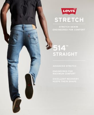 Levis Mens 514 Straight Fit Stretch Je..