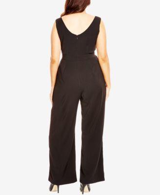City Chic Plus Size Wide-Leg Jumpsuit