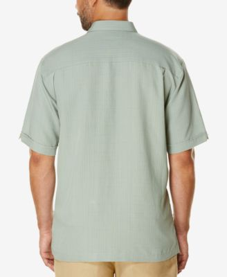 Cubavera Mens Textured Short-Sleeve Shirt