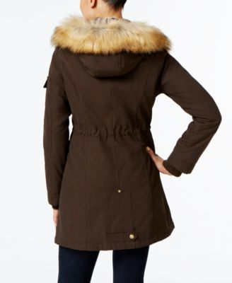 1 Madison Expedition Faux-Fur-Trim Hooded Parka
