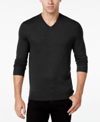 Club Room Mens Merino Blend V-Neck Swe..