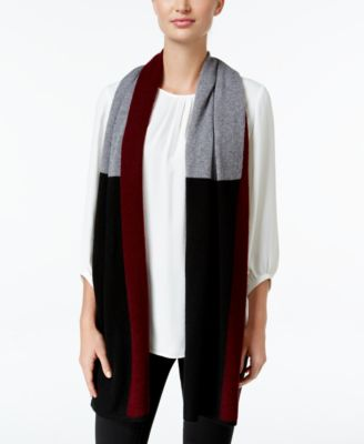 Charter Club Cashmere Colorblocked Scarf