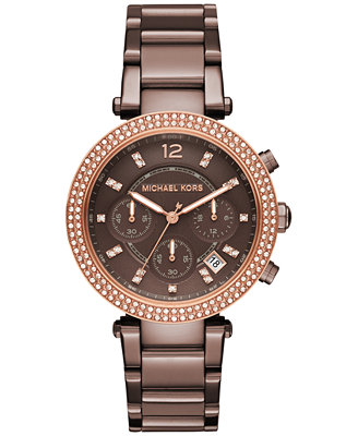 Michael Kors Leather Strap Watches