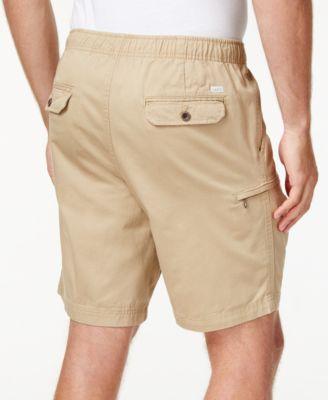 IZOD Mens Elastic Waist Cargo Shorts