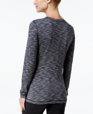 Ideology Space-Dyed Brush Lined Fleece Base-Layer Top