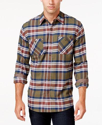 Weatherproof vintage men 39 s contrast cuff plaid flannel for Weatherproof vintage men s lightweight flannel shirt